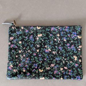 NWOT Clare V floral flat clutch